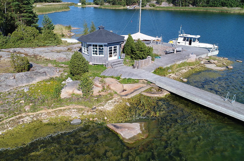 Lust house Nagu drone view